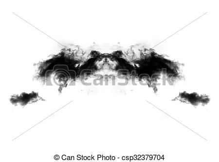 Stock Illustration of Rorschach test thematic illustration.
