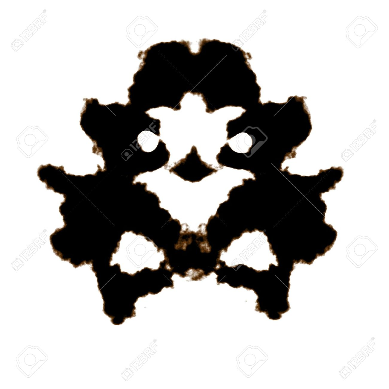 Rorschach Test Of An Ink Blot Card Stock Photo, Picture And.