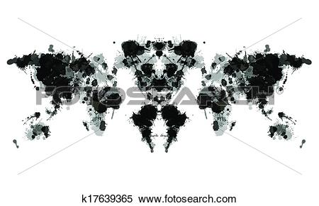 Clipart of Rorschach test k17639365.