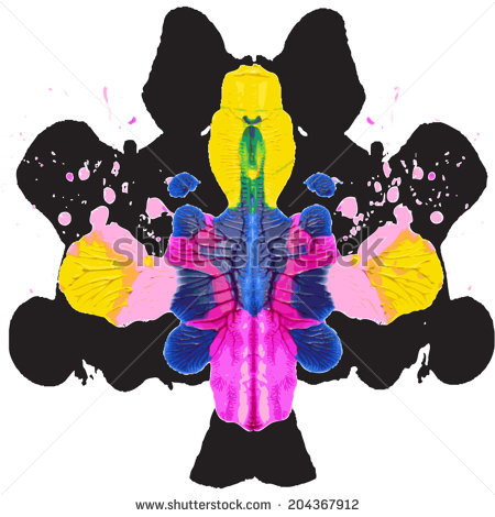 Rorschach Test Vector Stock Photos, Royalty.