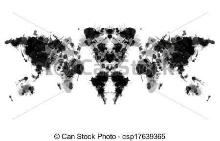 Clip Art Vector of Rorschach test csp17639365.