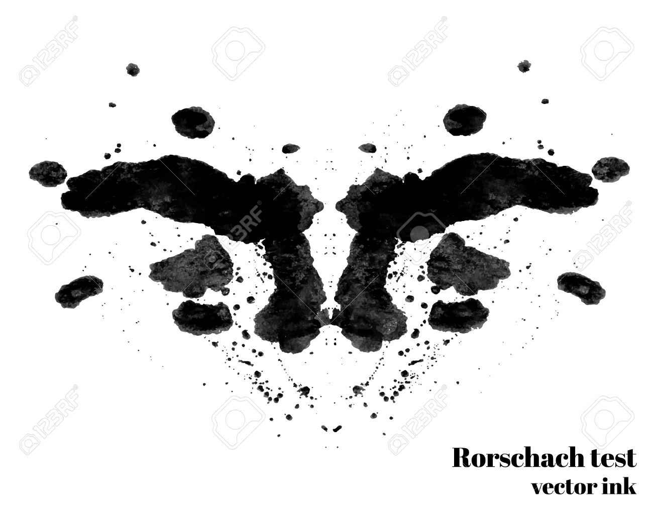 Rorschach Test Clipart.