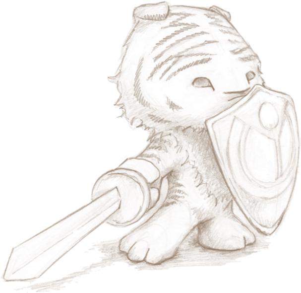 Rory Sketch Sword And Shieldpng Clipart.