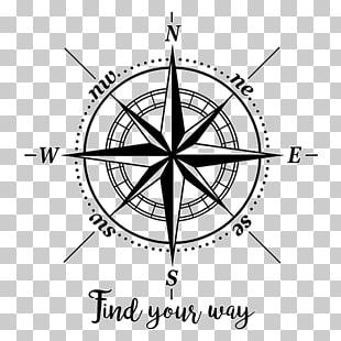 Compass rose Wind North, rosa de los vientos PNG clipart.