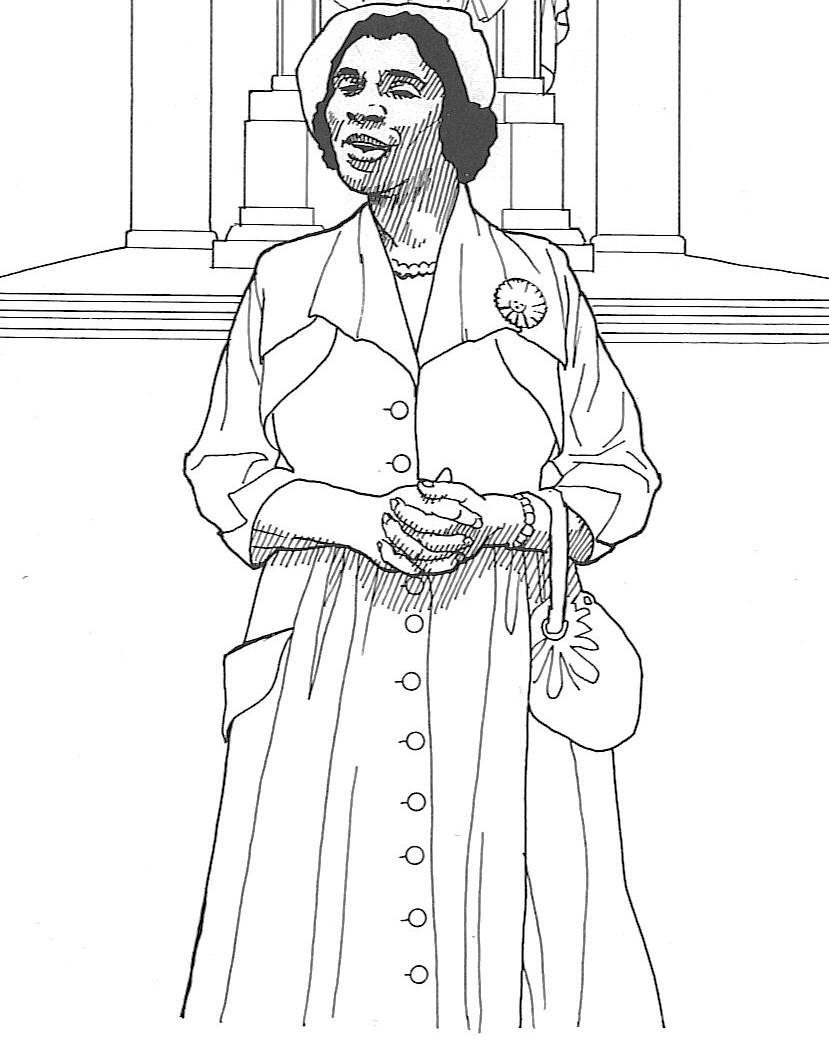 Coloring Pages : Rosa Parks Coloring Pages Fords To Print On.