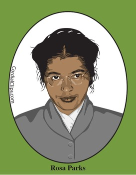 Rosa Parks Color Clip Art or Mini Poster.