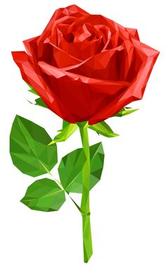 Beautiful Red Rose Transparent PNG Clip Art Image.