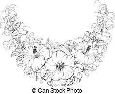 Hibiscus rosa sinensis Clipart Vector and Illustration. 35.