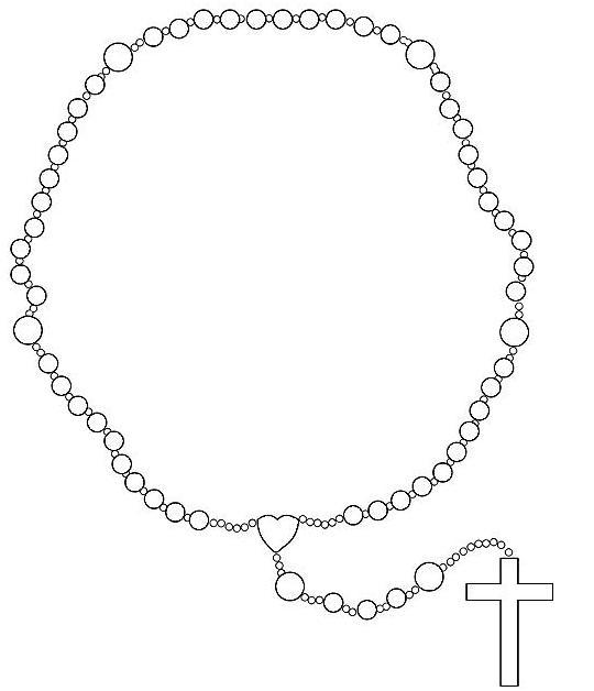 Holy Rosary Clipart.