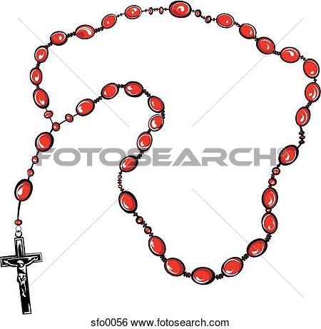 Catholic Rosary Bead Clipart.