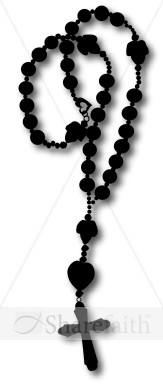Silhouette Rosary Graphic.