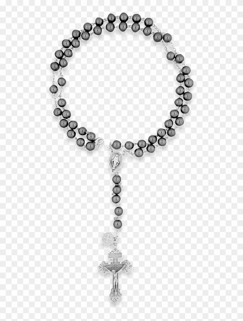 Hematite Rosary Beads.