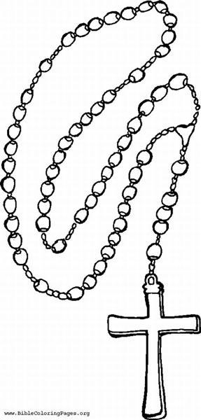 Catholic rosary clipart.