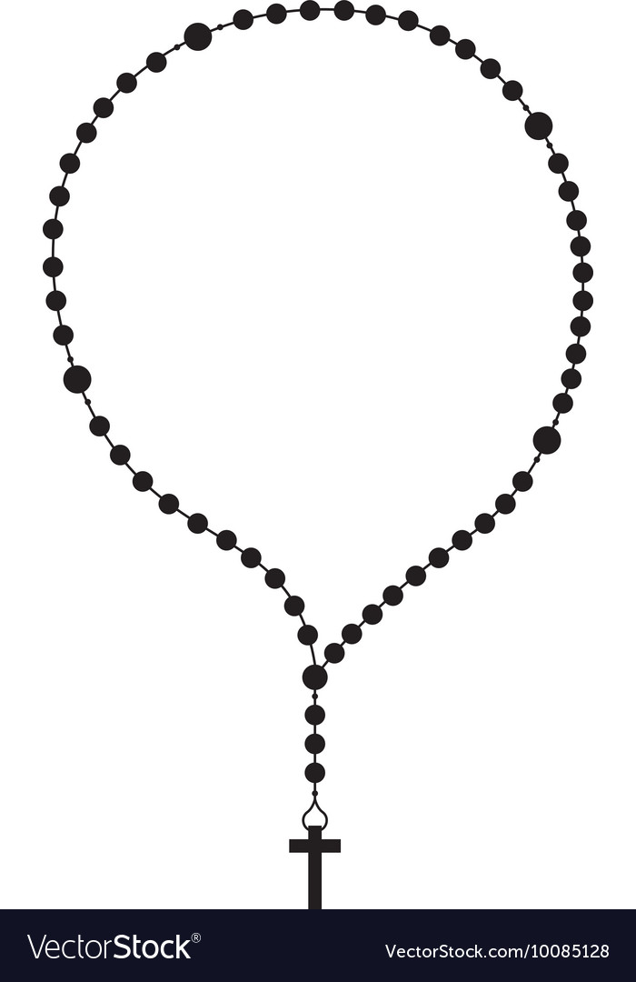 Rosary beads religion icon.
