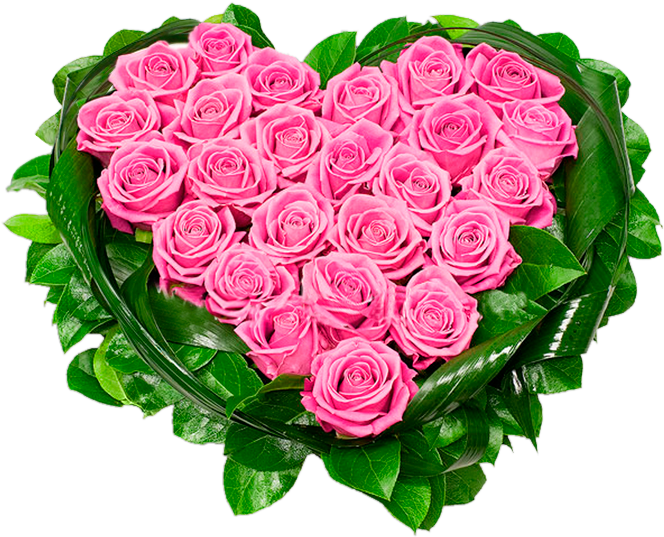 Download Heart Of Pink Roses Png Clipart Picture.