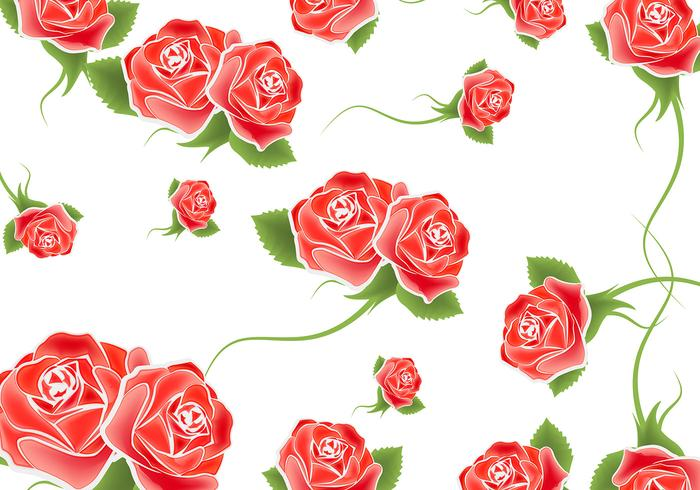 Roses Background Vector.