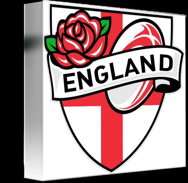 Rugby England English Rose Ball Shield by Aloysius Patrimonio.