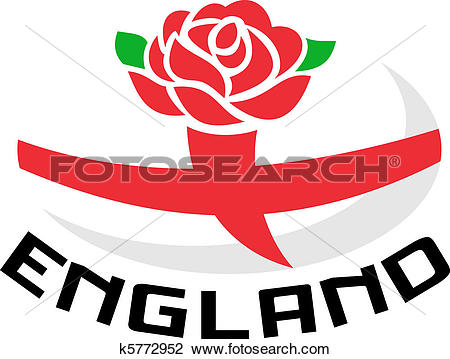 Clip Art of Rugby England rose flag ball k5772952.