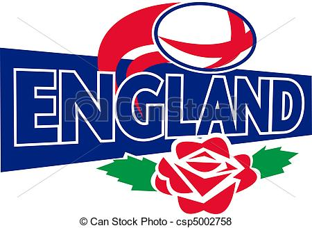 Stock Illustrations of Rugby England rose ball.