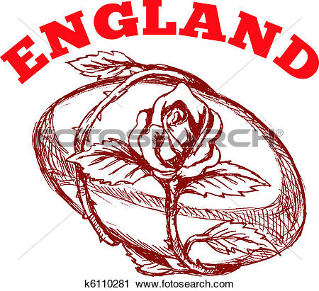 Stock Illustration of Rugby England rose ball k5772947.