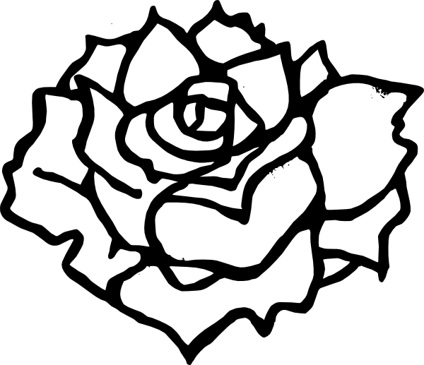 Rose Black And White Clip Art Free Clipart Images.