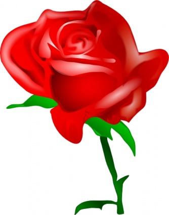Rose Blossom Clip Art.