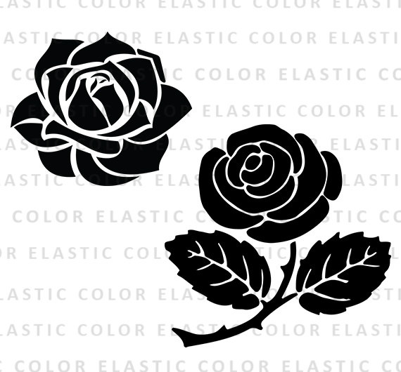 Rose svg rose clipart rose blossom clip art by elasticcolor.