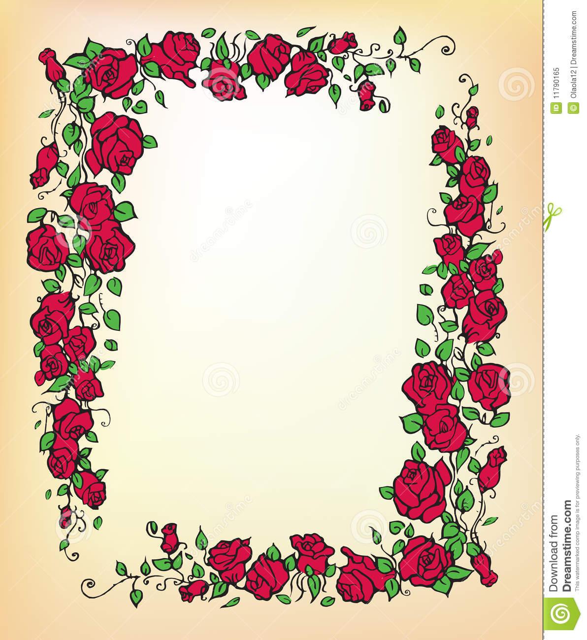 80+ Rose Border Clip Art.