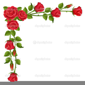 Clipart Red Rose Border.