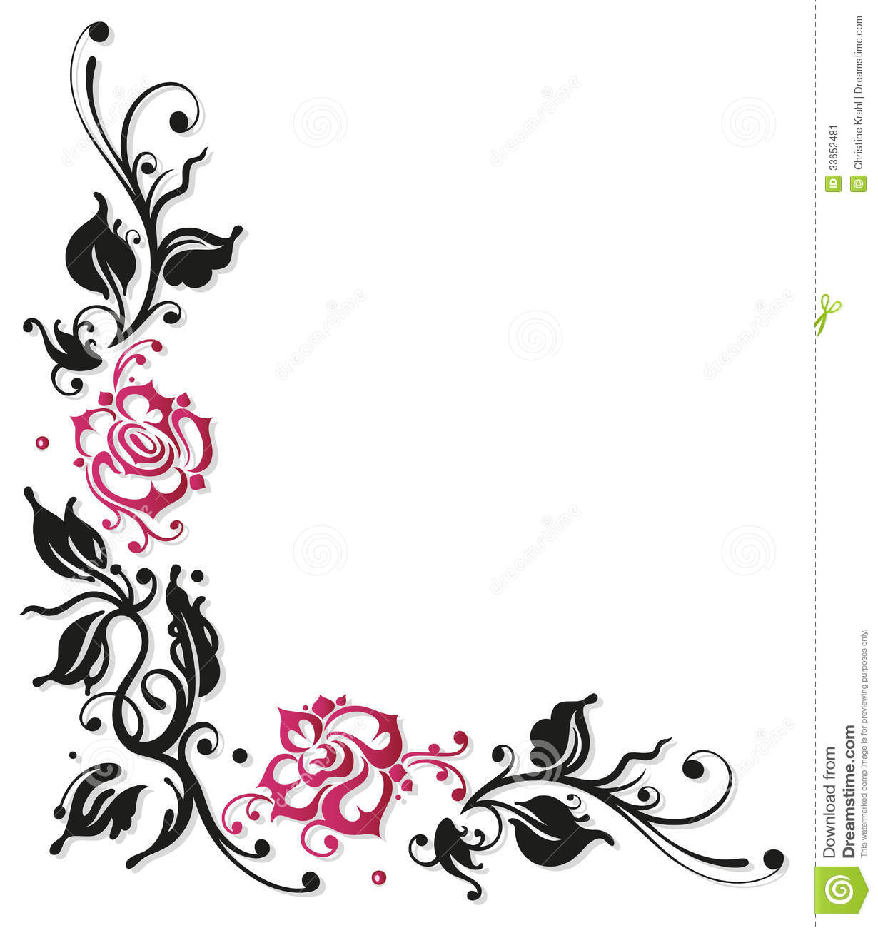 Rose Border Clipart.