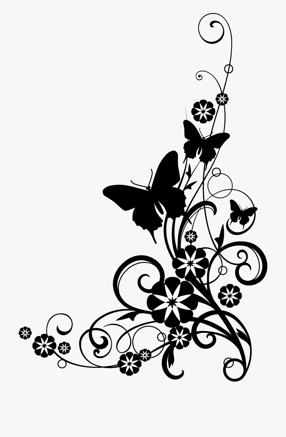 Rose Black And White Black And White Rose Clipart.