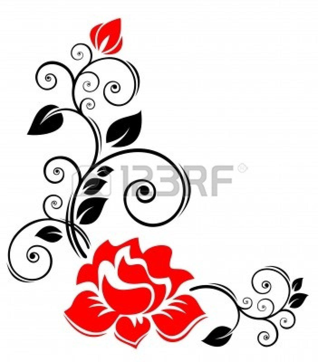 knumathise: Rose Clip Art Black And White Border Images.