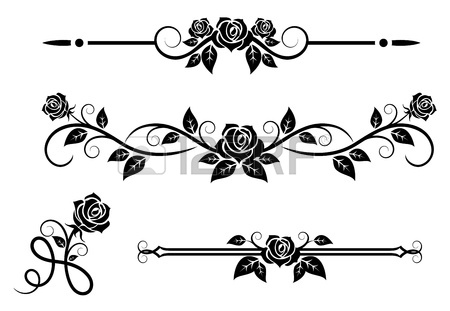 Rose border clipart black and white 9 » Clipart Station.