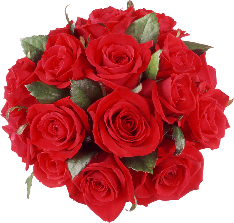 Red Roses Bouquet PNG Clipart.