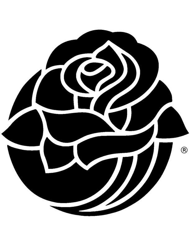 MSU Pumpkin Stencils: Rose Bowl Rose.