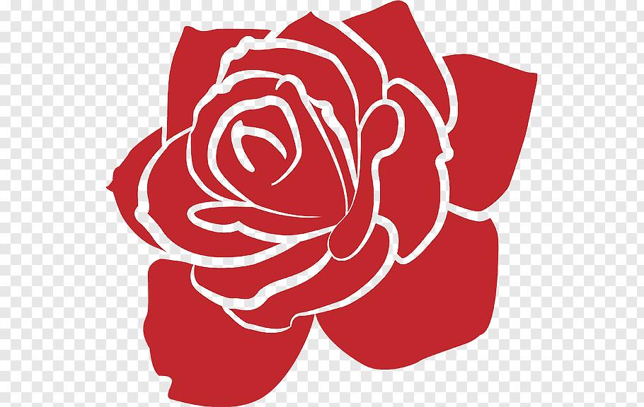 Red rose art, Garden roses Rose garden Rose Bowl Logo, rose.