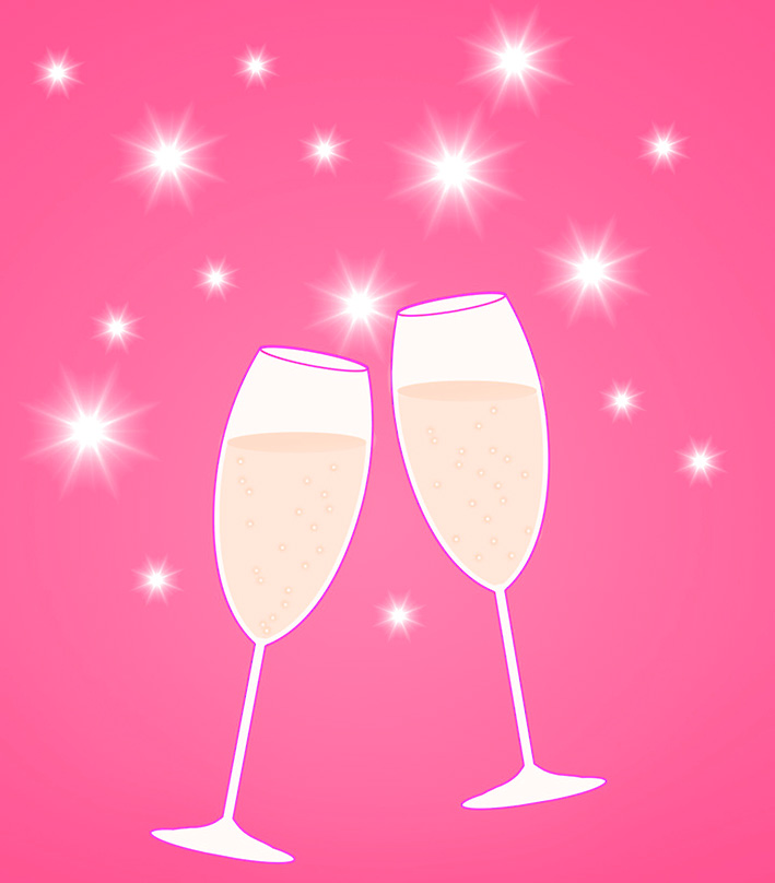 Champagne Glasses New Years Clip Art. Champagne Toast Csp8619351.