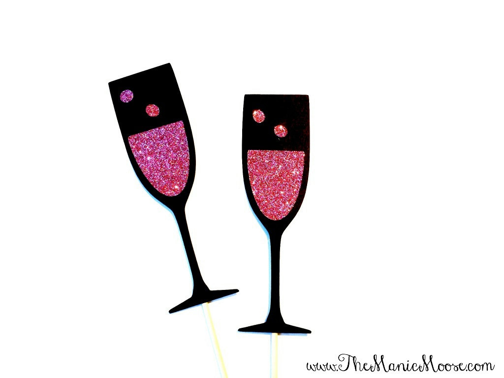 Prom silver champagne glasses clipart images.