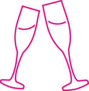Pink Champagne Clipart.