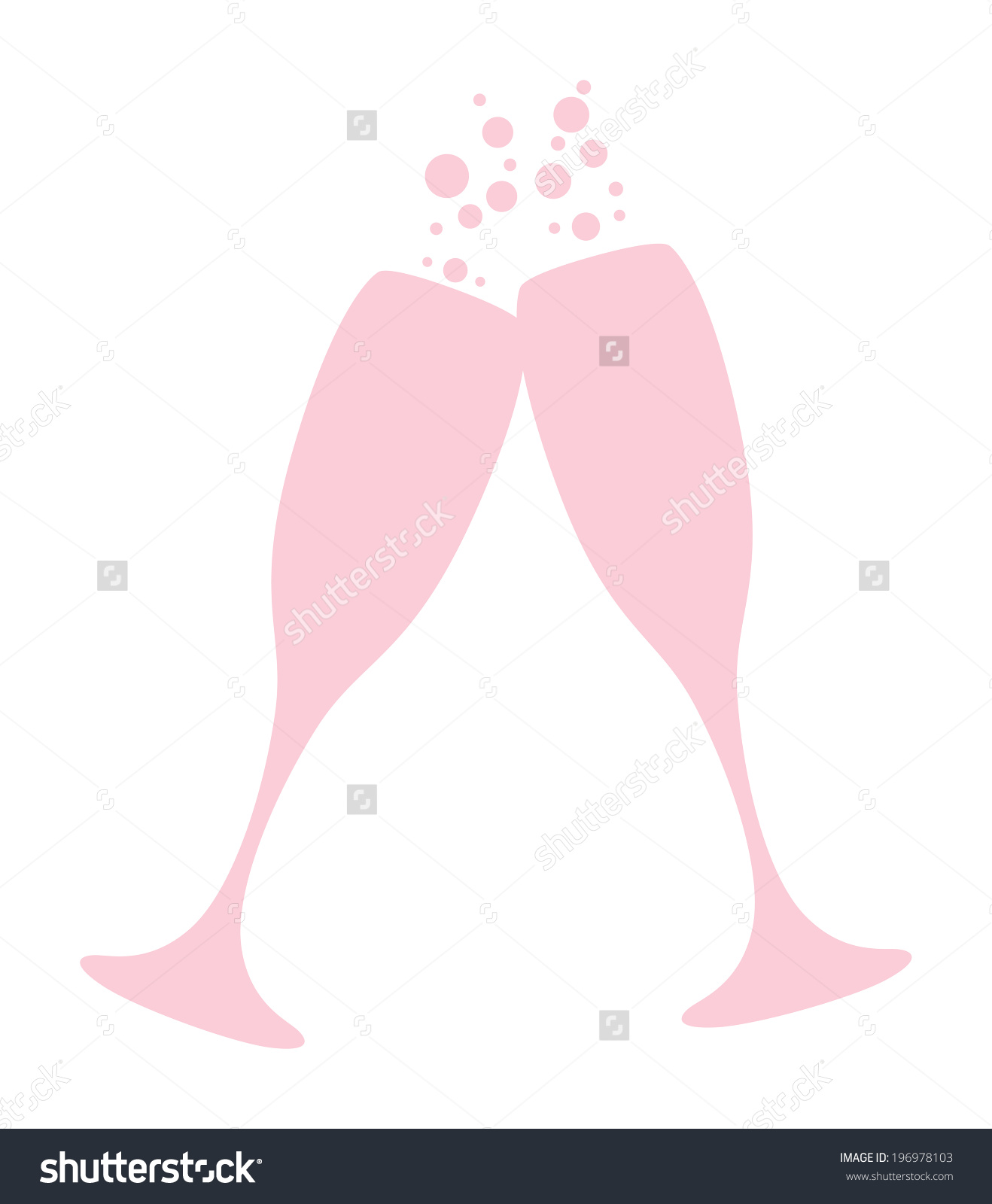Champagne glass with bubbles clipart.