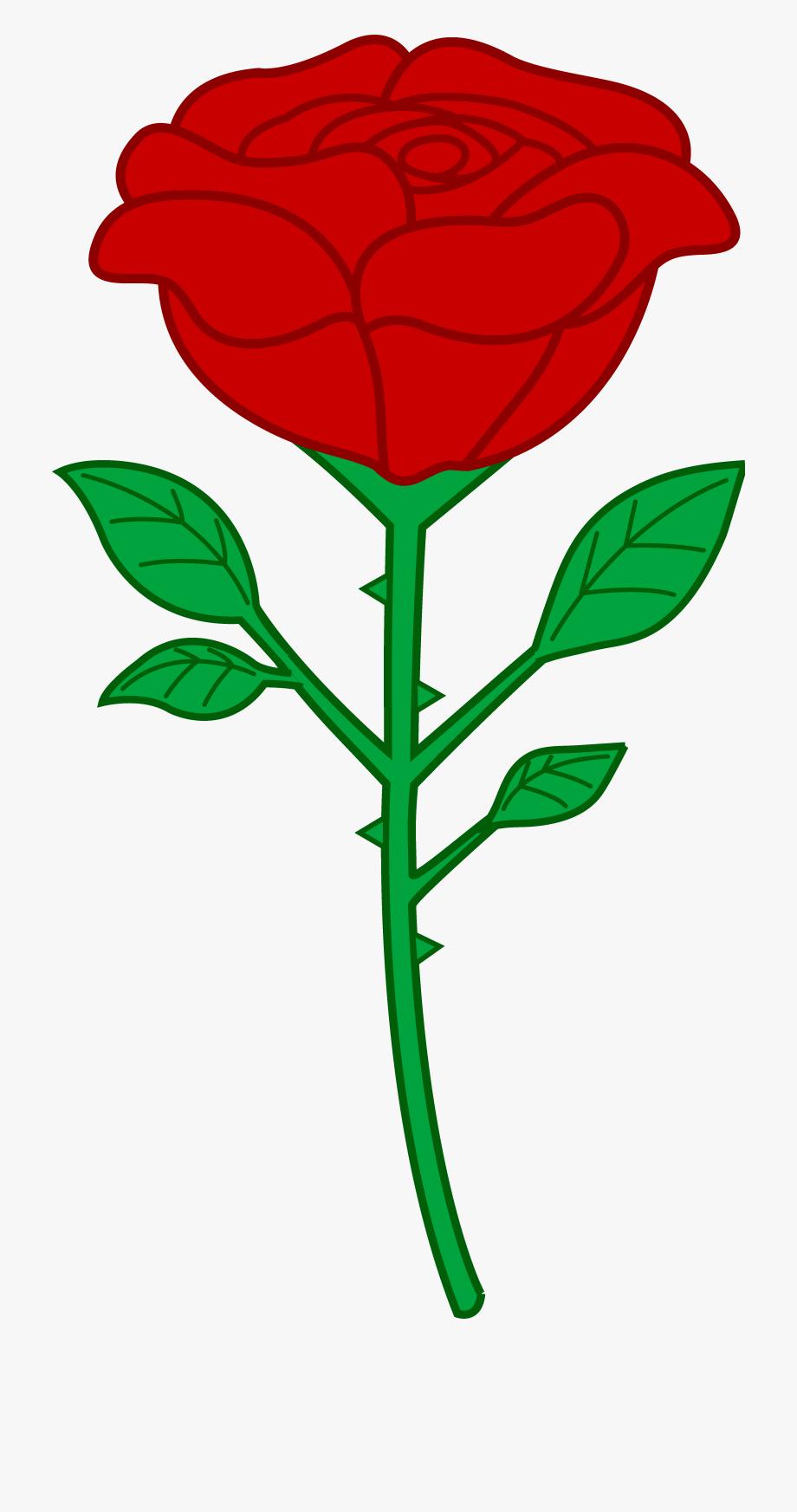 Free Clip Art Rose.