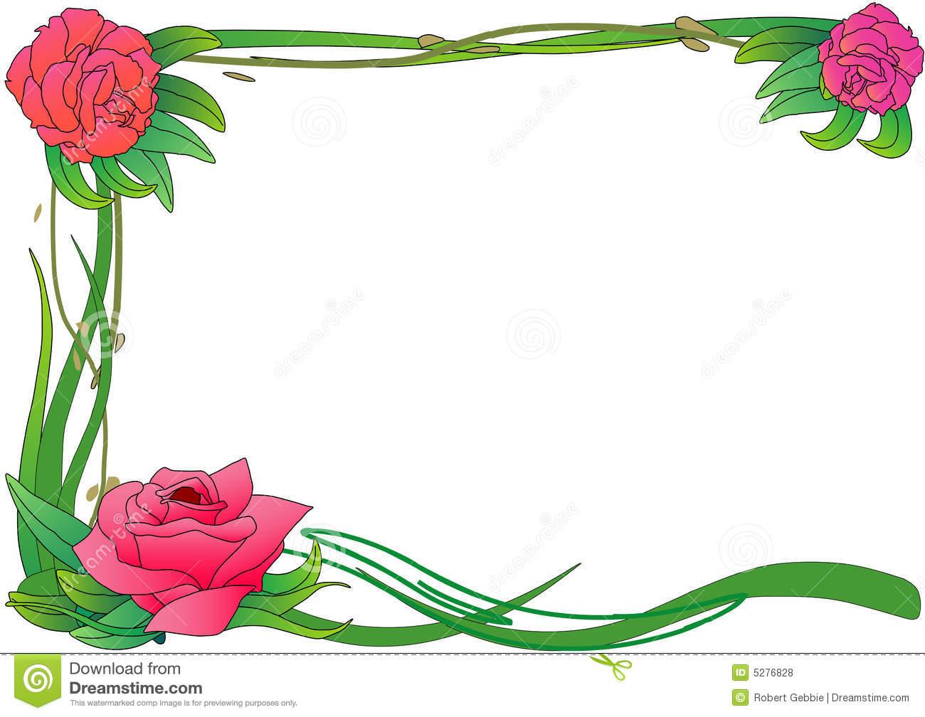 Rose Vine Border Clip Art.