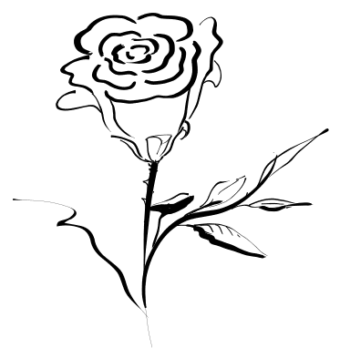 Rose black and white rose clip art black and white free.