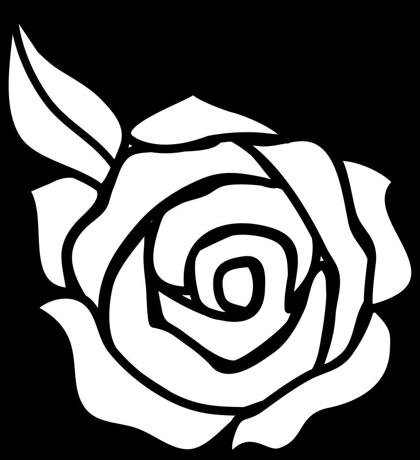 Flower black and white rose flower clipart black and white.