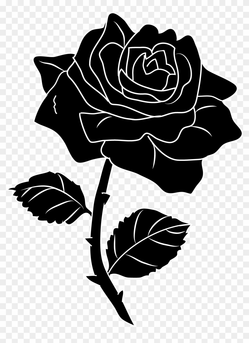 28 Collection Of Roses Clipart Black And White.
