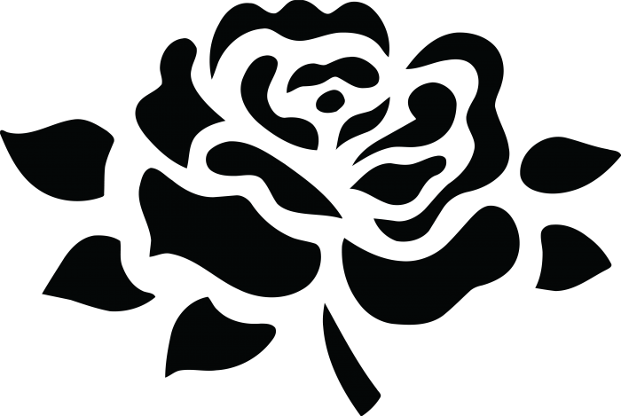 Black And White Png Collection Of Rose Clipart Freeuse Black.
