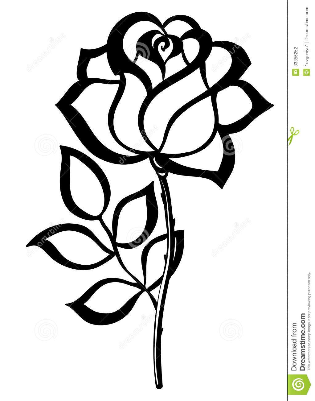 simple rose outline.