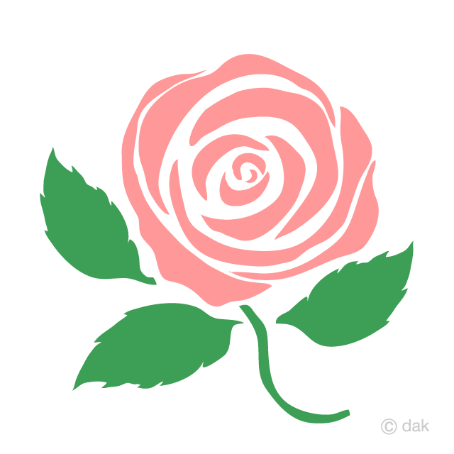 Free Simple Pink Rose Clipart Image|Illustoon.