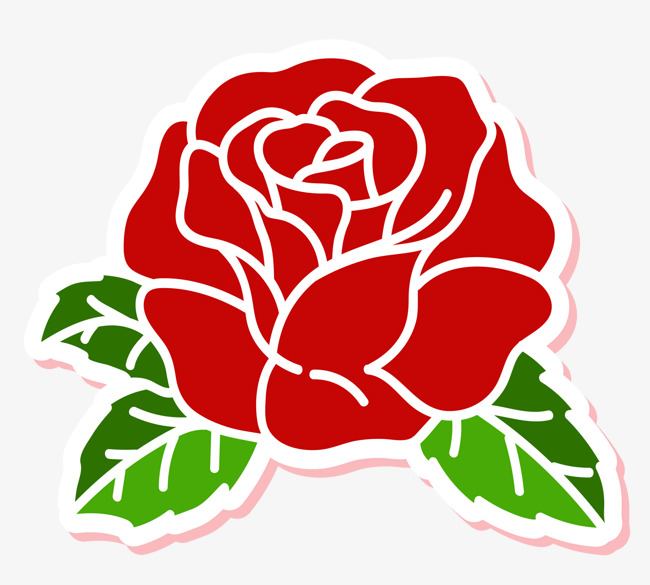 Simple rose clipart 4 » Clipart Station.