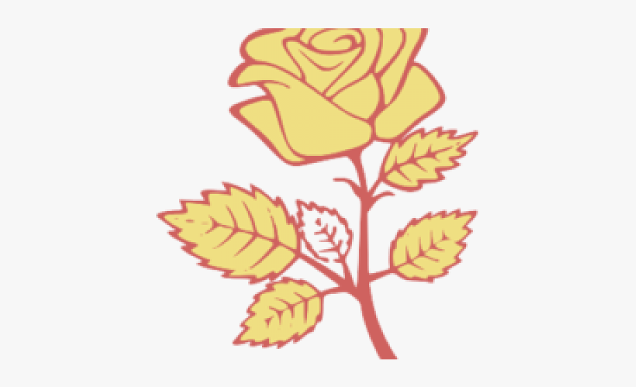 Yellow Rose Clipart Svg.